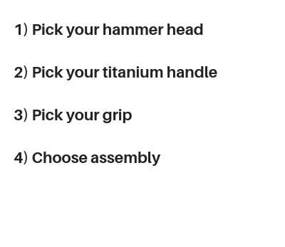 MTC Custom Titanium Hammer – Martinez Tools